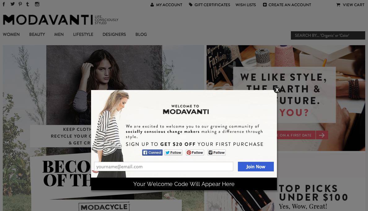 modavanti pop up example