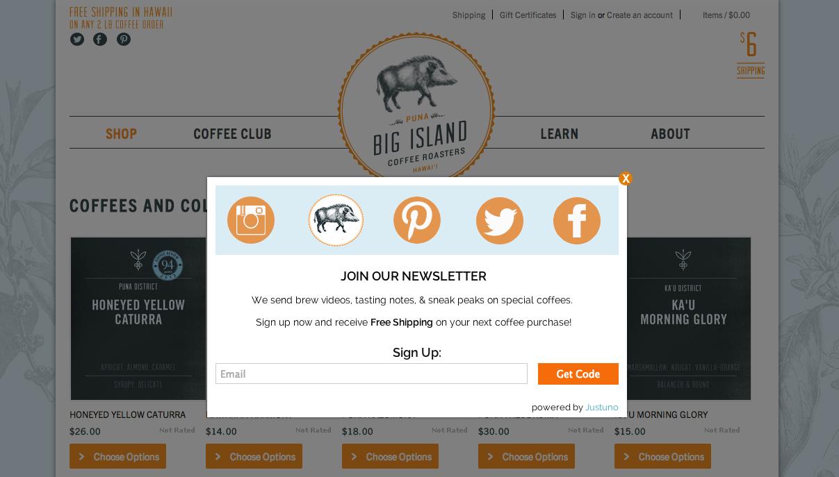 big island coffee roasters pop up example