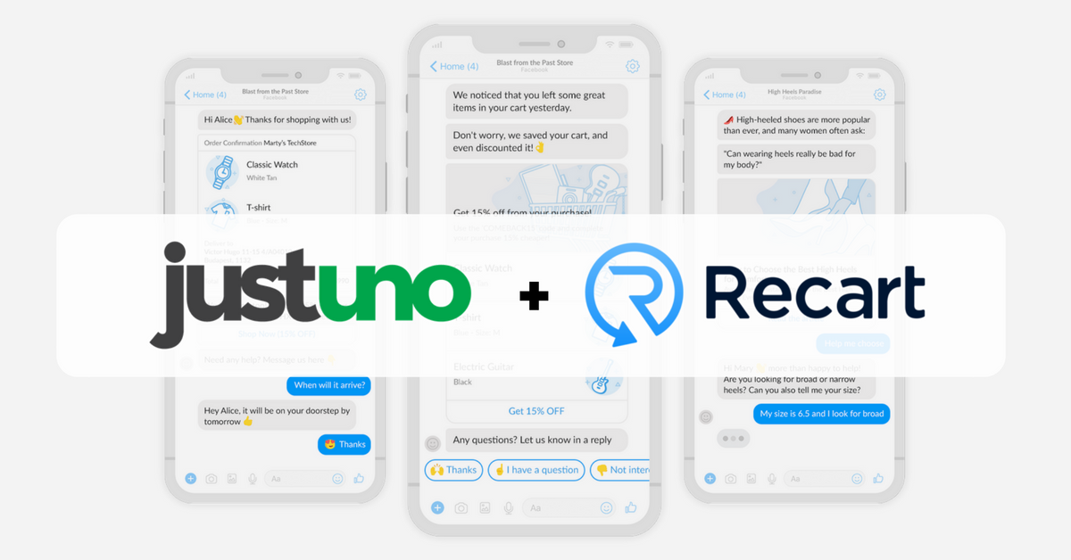 Justuno and Recart Integration