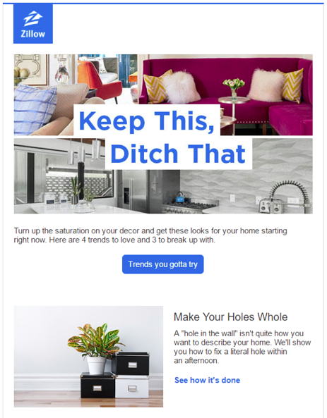 Zillow Newsletter Examples