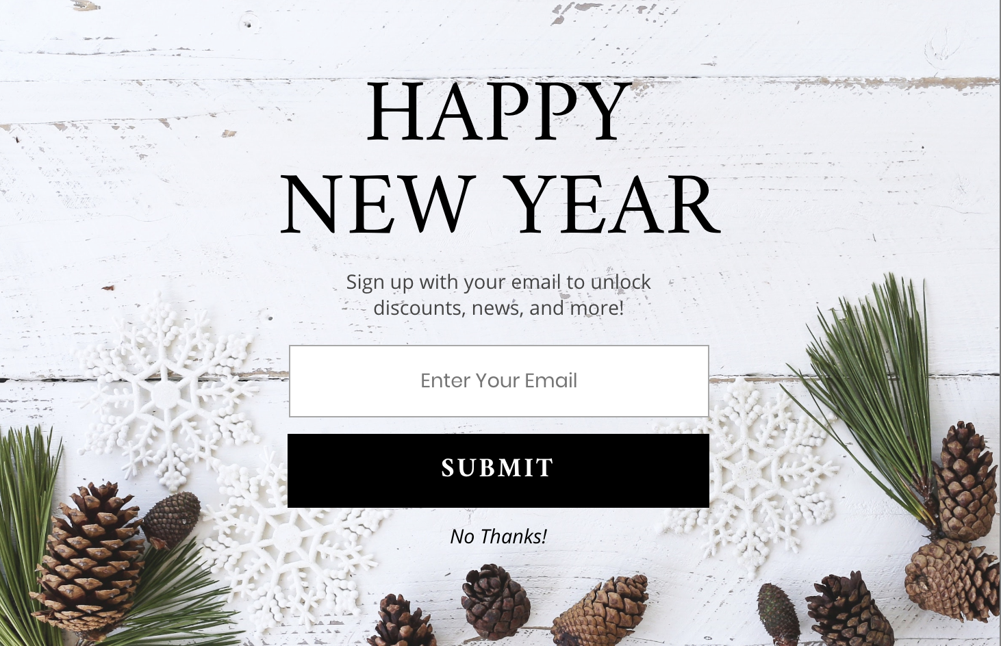 New Year's Pre-Built Tempalte