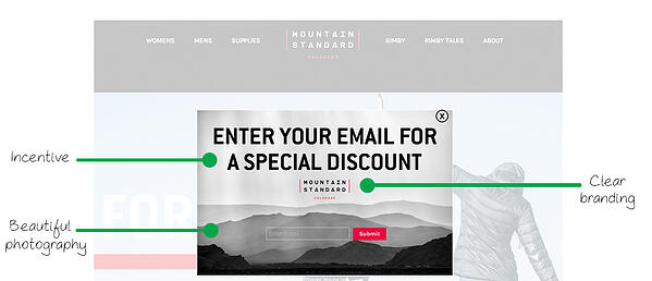 example pop-up by Mountain Standard