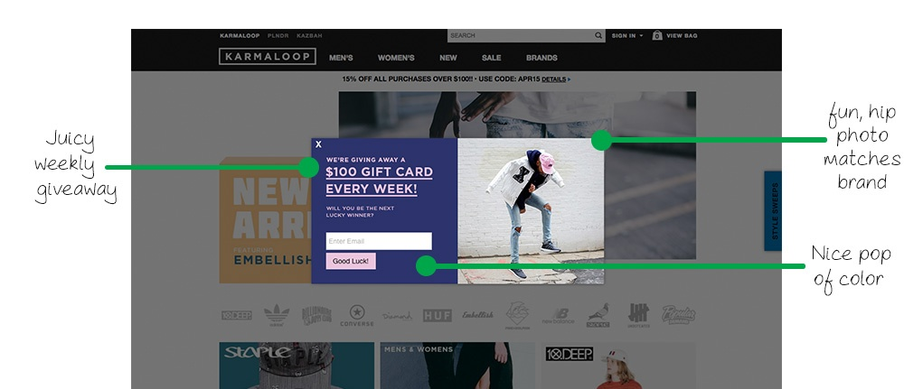 pop-up by Karmaloop