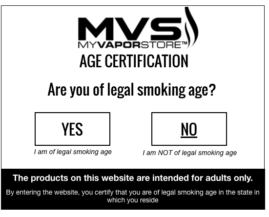 age verification pop up