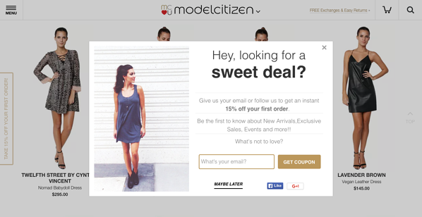 model citizen promo example