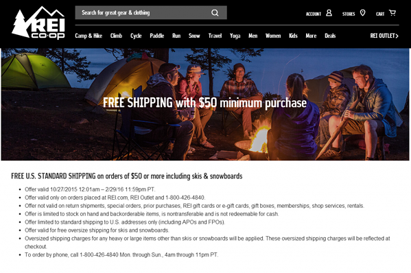 REI holiday offer