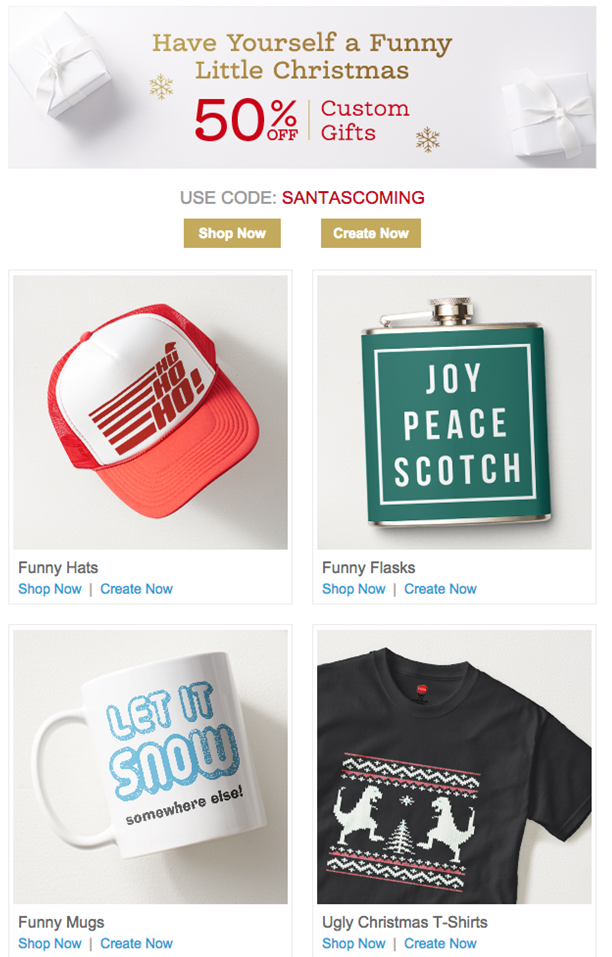 zazzle holiday campaign