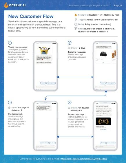 Octane AI New Customer Infographic